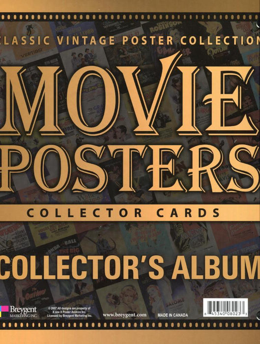 Classic Vintage Movie Posters 1 Empty Collector Card Album   - TvMovieCards.com