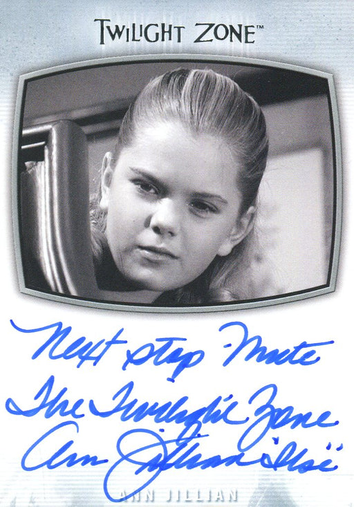 Twilight Zone Archives 2020 Ann Jillian Next Stop Mute TZ Autograph Card AI-19   - TvMovieCards.com