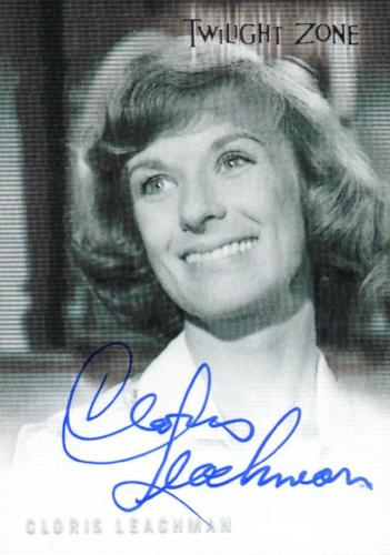 Twilight Zone Premiere Edition Cloris Leachman Autograph Card A-17 Front