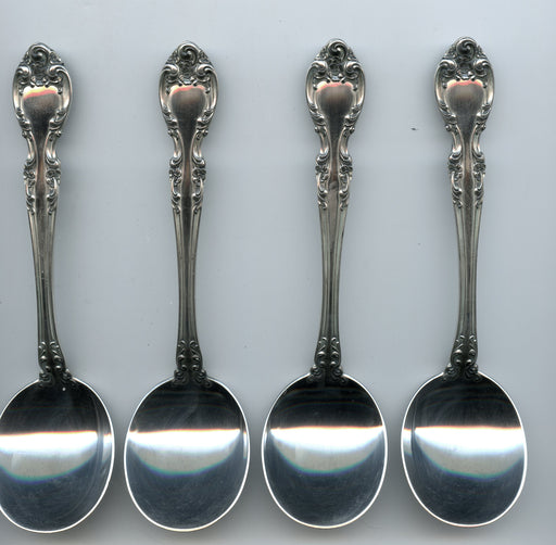 4 Melrose Cream Spoons 6-1/4 inch by Gorham Sterling Silver   - TvMovieCards.com