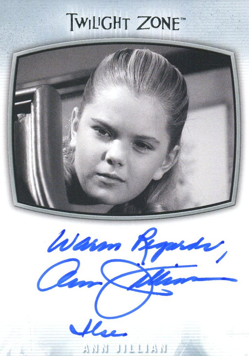 Twilight Zone Archives 2020 Ann Jillian Warm Regards Autograph Card AI-19   - TvMovieCards.com