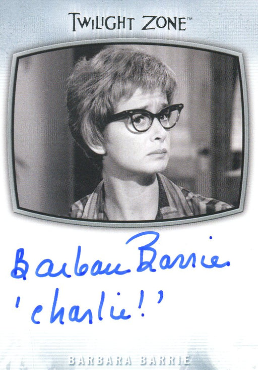Twilight Zone Archives 2020 Barbara Barry Charlie! Autograph Card AI-20   - TvMovieCards.com