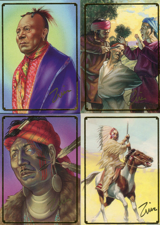 Native Americans An Epic Struggle of Blood & Courage Promo Card Set 4 Cards   - TvMovieCards.com