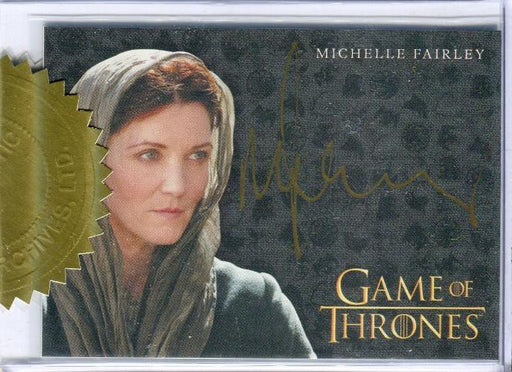 Game of Thrones Season 7 Dealer Incentive Michelle Fairley Autograph Card   - TvMovieCards.com