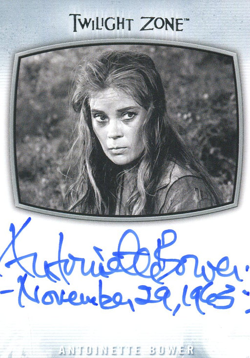 Twilight Zone Archives 2020 Antoinette Bower Nov. 29, 1963 Autograph Card AI-22   - TvMovieCards.com