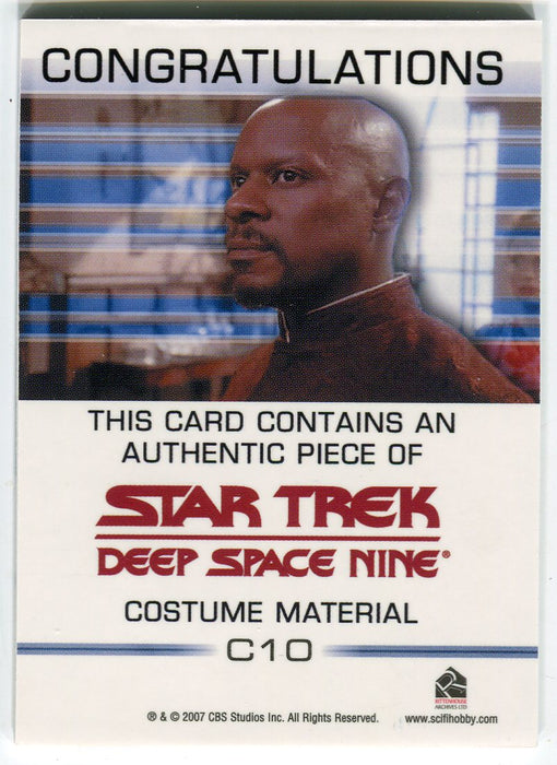 Star Trek Quotable Deep Space Nine DS9 Doctor Noah C10 Costume Card   - TvMovieCards.com