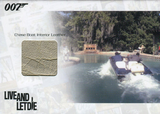 James Bond Heroes & Villains Chase Boat Interior Relic Prop Card JBR7 #58/444   - TvMovieCards.com