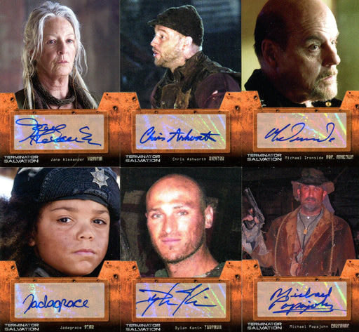 Terminator Salvation Movie Autograph Card Set 6 Cards 2009 Topps   - TvMovieCards.com