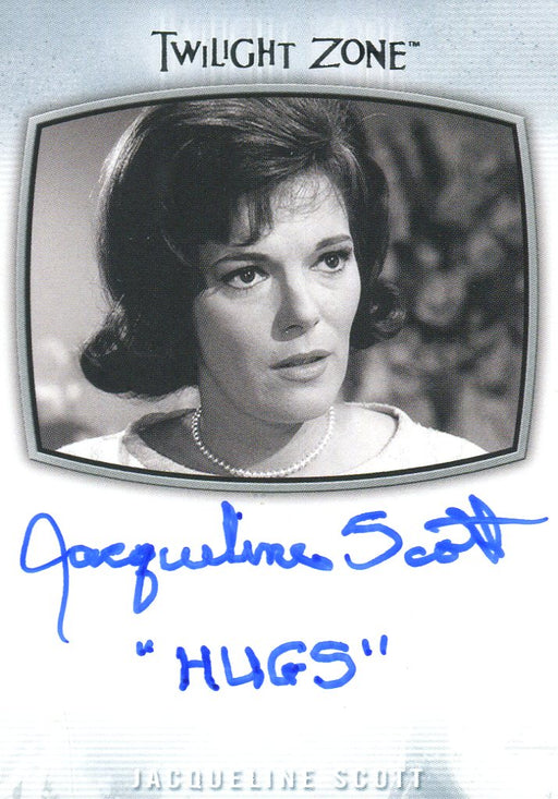 Twilight Zone Archives 2020 Jacqueline Scott Hugs (Marker) Autograph Card AI-24   - TvMovieCards.com