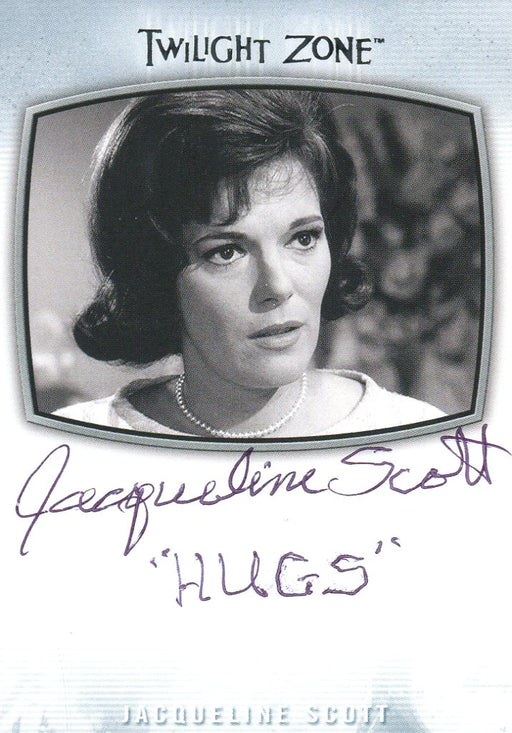 Twilight Zone Archives 2020 Jacqueline Scott Hugs (Pen) Autograph Card AI-24   - TvMovieCards.com