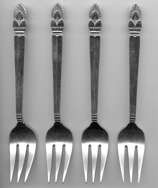 4 Princess Ingrid Salad Forks by Frank M. Whiting Sterling Silver 6-3/8 Inch   - TvMovieCards.com