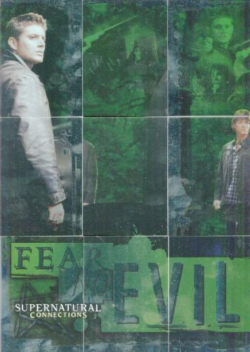 Supernatural Connections Fear No Evil Foil Puzzle Chase Card Set 9 Cards   - TvMovieCards.com