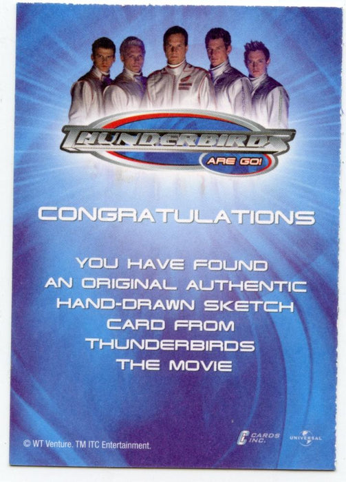 Thunderbirds Are Go! Movie Sketch Card by Czop Water Craft Color   - TvMovieCards.com