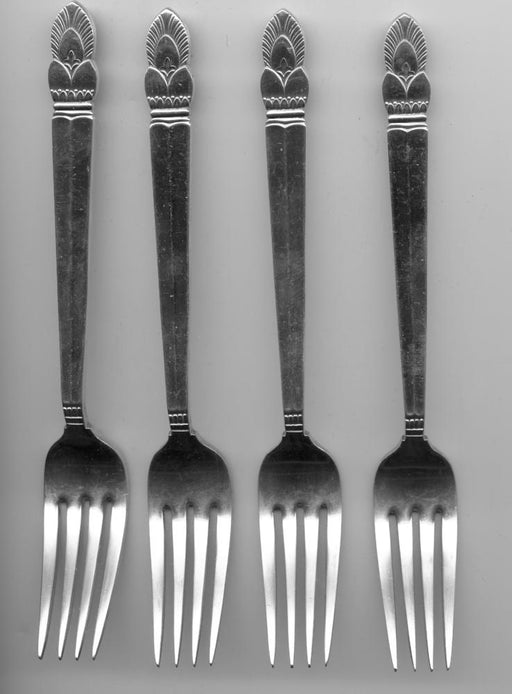 4 Princess Ingrid Forks by Frank M. Whiting Sterling Silver 7-1/8 Inch   - TvMovieCards.com