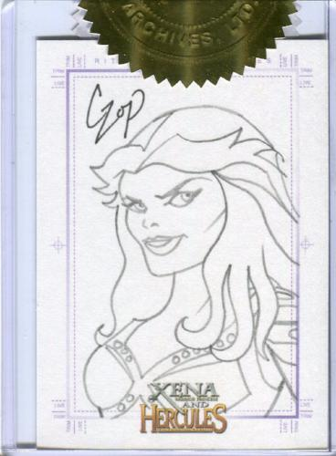 Xena & Hercules Animated Adventures Callisto Sketch Card by John Czop   - TvMovieCards.com