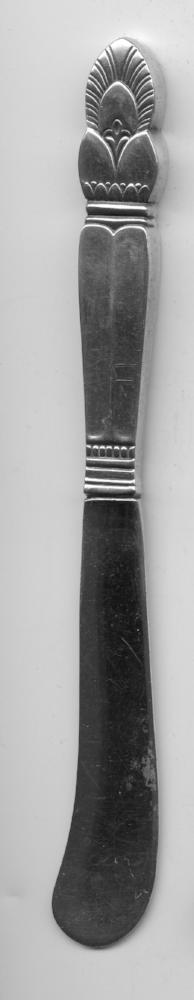 Princess Ingrid Flat Butter Knife by Frank M. Whiting Sterling Silver 6 Inch   - TvMovieCards.com