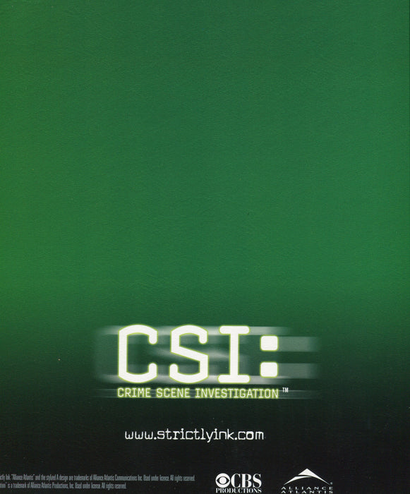 CSI Crime Scene Investigation Card Album   - TvMovieCards.com