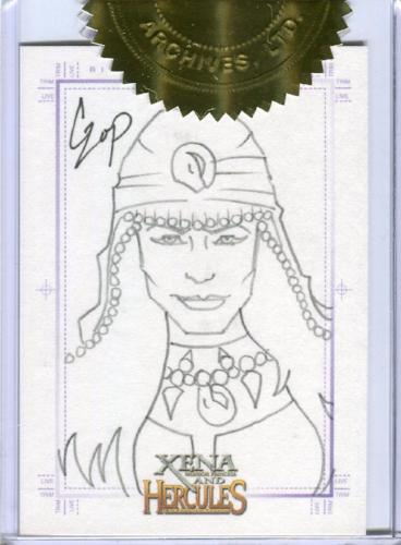 Xena & Hercules Animated Adventures Alti Sketch Card by John Czop   - TvMovieCards.com