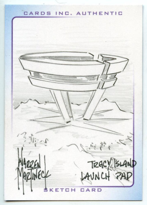Thunderbirds Are Go! Movie Sketch Card by Warren Martineck Launch Pad   - TvMovieCards.com