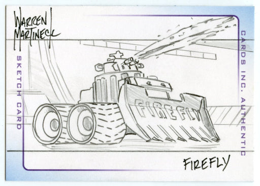 Thunderbirds Are Go! Movie Sketch Card by Warren Martineck  Firefly   - TvMovieCards.com
