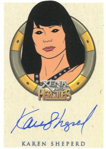 Xena & Hercules Animated Adventures Karen Sheperd Enforcer Autograph Card   - TvMovieCards.com