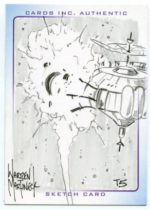 Thunderbirds Are Go! Movie Sketch Card by Warren Martineck T5   - TvMovieCards.com