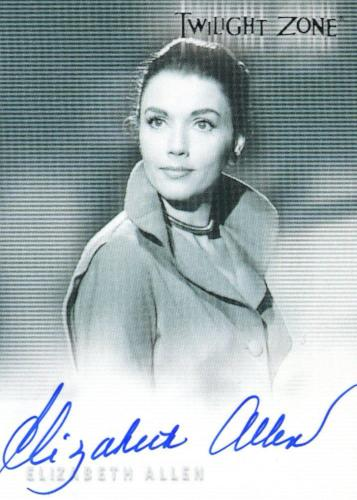 Twilight Zone Next Dimension Autograph Challenge Elizabeth Allen Autograph Card  Front