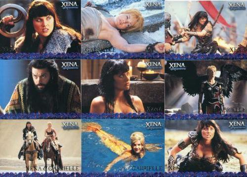 Xena Seasons 4 and 5 Preview Card Set P1-P9   - TvMovieCards.com