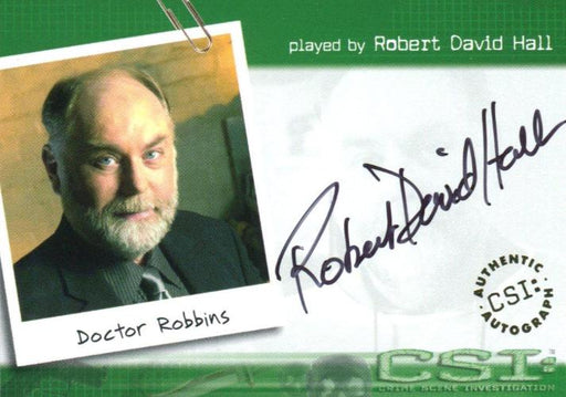 CSI Crime Scene Investigation Season 1 Robert David Hall Autograph Card CSI-A5   - TvMovieCards.com