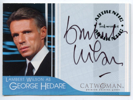 Catwoman Movie Lambert Wilson as George Hedare Autograph Card A-1   - TvMovieCards.com