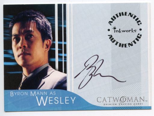 Catwoman Movie Byron Mann as Wesley Autograph Card A-5   - TvMovieCards.com