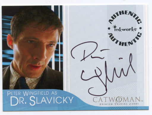 Catwoman Movie Peter Wingfield as Dr. Slavicky Autograph Card A-7   - TvMovieCards.com