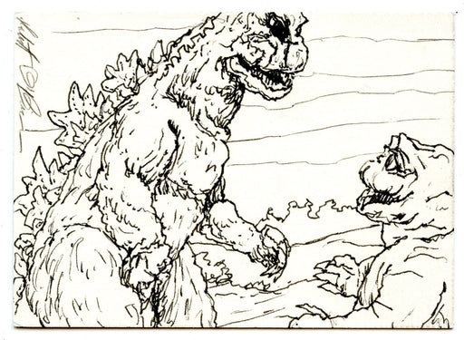 GODZILLA: KING OF THE MONSTERS Sketch Card by Robert O'Brien #1 Minya   - TvMovieCards.com
