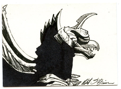 GODZILLA: KING OF THE MONSTERS Sketch Card by Robert O'Brien #2 Megalon   - TvMovieCards.com