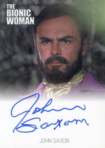 Bionic Collection The Bionic Woman John Saxon Autograph Card   - TvMovieCards.com