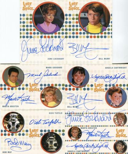 Lost in Space Complete Autograph Card Set 24 Cards   - TvMovieCards.com