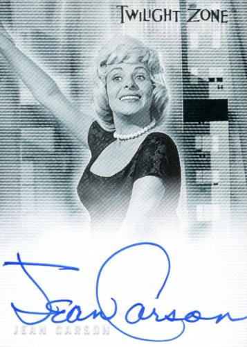 Twilight Zone 2 The Next Dimension Jean Carson Autograph Card A-27 Front
