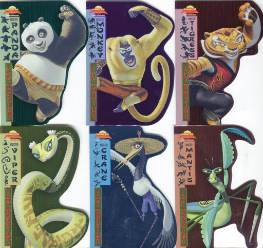Kung Fu Panda Movie True Warriors Die Cut Chase Card Set T-1 thru T-6   - TvMovieCards.com