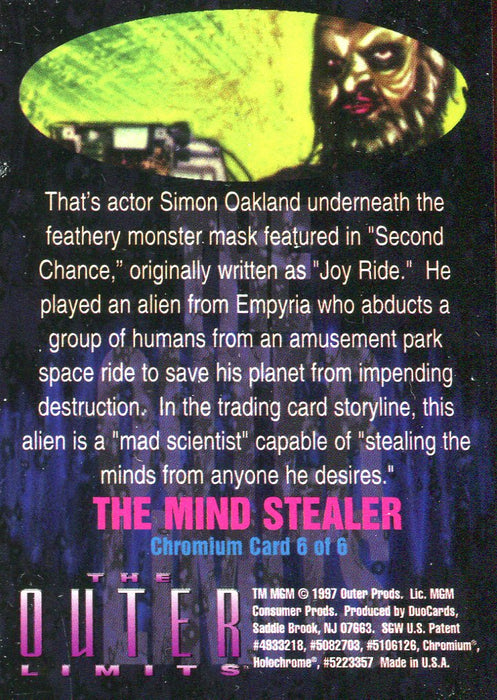 Outer Limits 1997 Chromium Chase Card 6 of 6   - TvMovieCards.com