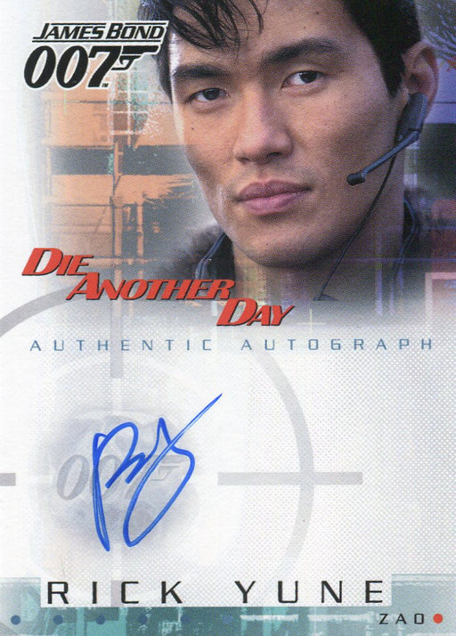 James Bond Die Another Day Rick Yune Autograph Card A6   - TvMovieCards.com
