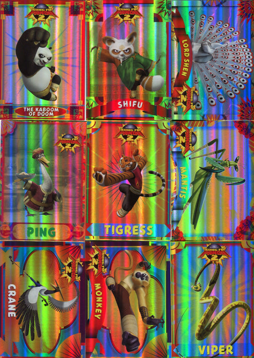 Kung Fu Panda 2 Movie Foil Puzzle Chase Card Set 9 Cards PZ1 thru PZ9   - TvMovieCards.com