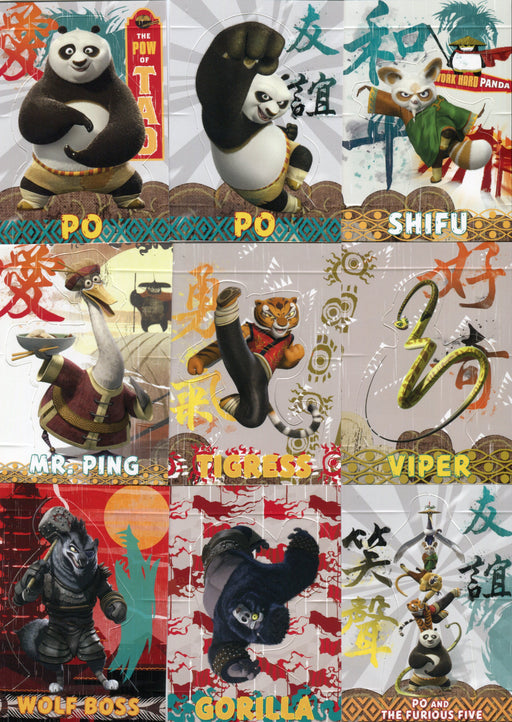 Kung Fu Panda 2 Movie Pop-Up Chase Card Set 9 Cards 1 of 9 thru 9 of 9   - TvMovieCards.com