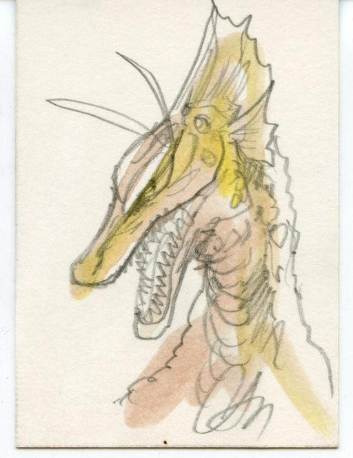 GODZILLA: KING OF THE MONSTERS Sketch Card by Christopher Scalf Titanoaurus   - TvMovieCards.com