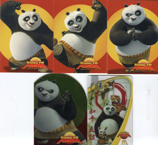 Kung Fu Panda Movie Promo Card Set plus McDonalds Arch Card 5 Cards   - TvMovieCards.com