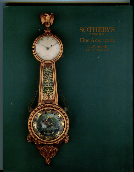 Sothebys Auction Catalog June 19 1992 Fine Americana Art Furniture   - TvMovieCards.com