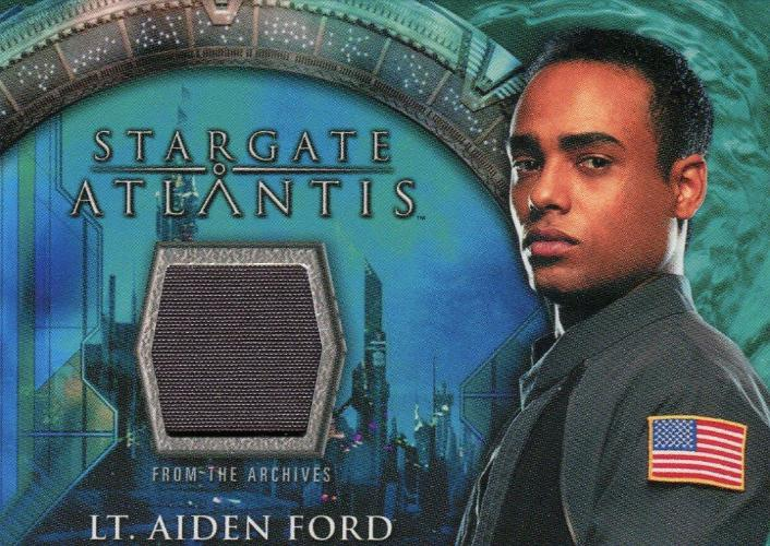 Stargate Atlantis Season One Lt. Aiden Ford Costume Card   - TvMovieCards.com