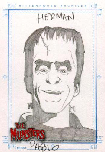 Munsters (2005) Artist Pablo Raimondi Autograph Sketch Card Herman Munster   - TvMovieCards.com