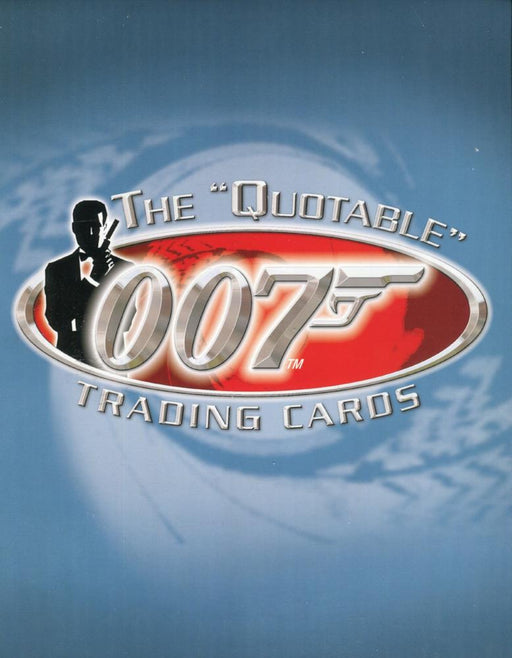 James Bond The Quotable James Bond Collector Card Album w/ Costume & Promo   - TvMovieCards.com