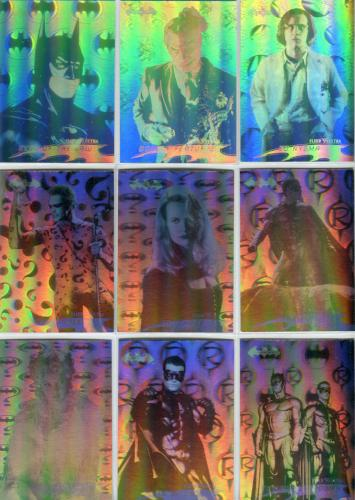 Batman Forever Hologram Chase Card Set 36 Hologram Cards Fleer Ultra 1995   - TvMovieCards.com
