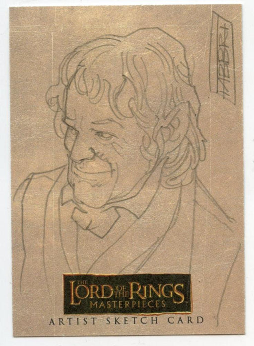 Lord of the Rings Masterpieces Sketch Card by Davide Fabbri Bilbo   - TvMovieCards.com